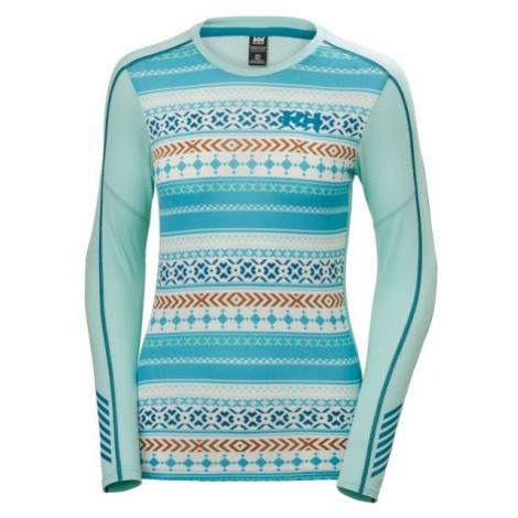 Helly Hansen LIFA ACTIVE GRAPHIC CREW blue - Women's long-sleeved T-shirt