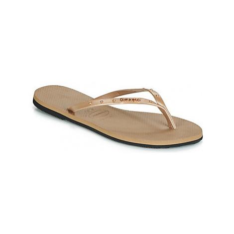 Havaianas YOU MAXI women's Flip flops / Sandals (Shoes) in Gold