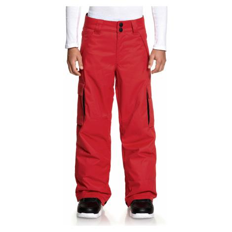 pants DC Banshee - RQR0/Racing Red - boy´s