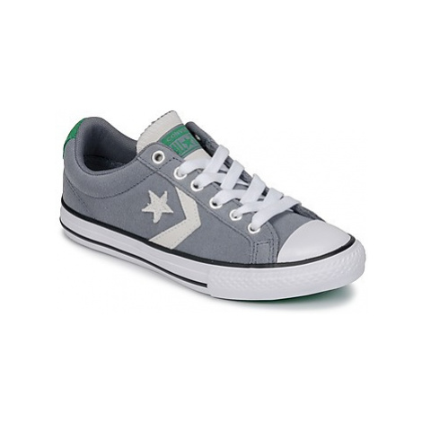 Converse STAR PLAYER OX girls's Children's Shoes (Trainers) in Grey