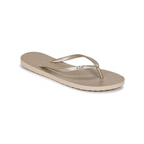 Roxy VIVA IV J SNDL GLD women's Flip flops / Sandals (Shoes) in Gold