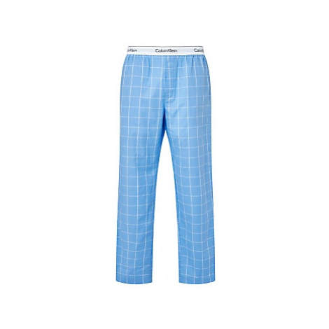 Calvin Klein Cotton Check Lounge Pants, Blue