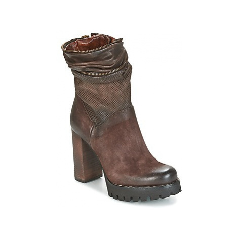 Airstep / A.S.98 BLOC ZIP women's Low Ankle Boots in Brown