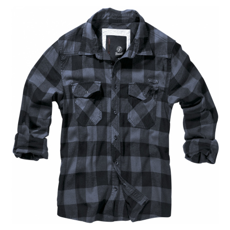 Brandit - Checkshirt - Shirt - black-grey