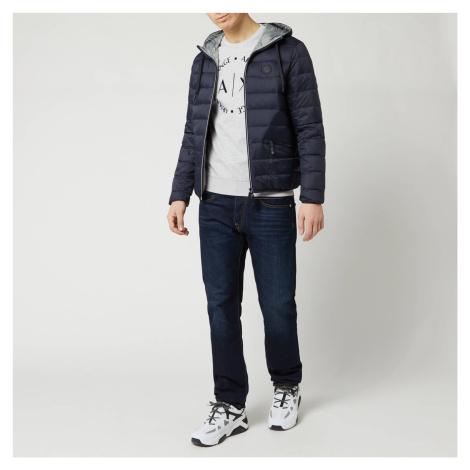 Armani Exchange Men's Padded Hooded Jacket - Navy/Melange