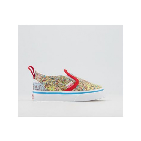 Vans Classic Slip On Toddlers Trainers WHERES WALDO FIND STEVE BEACH