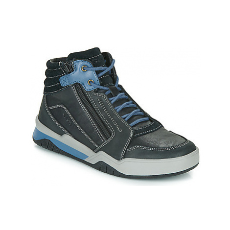 Geox J PERTH BOY boys's Children's Shoes (High-top Trainers) in Black