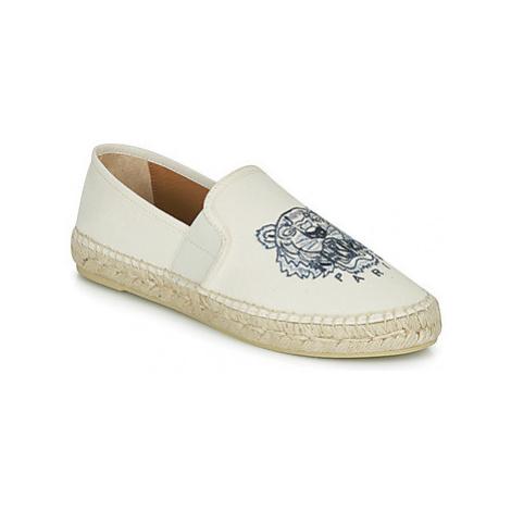 Kenzo ESPADRILLE ELASTIQUE TIGER HEAD women's Espadrilles / Casual Shoes in White