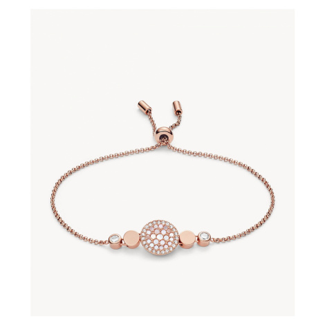 Fossil Women's Disc Mother-of-Pearl Bracelet - Rose Gold Grey
