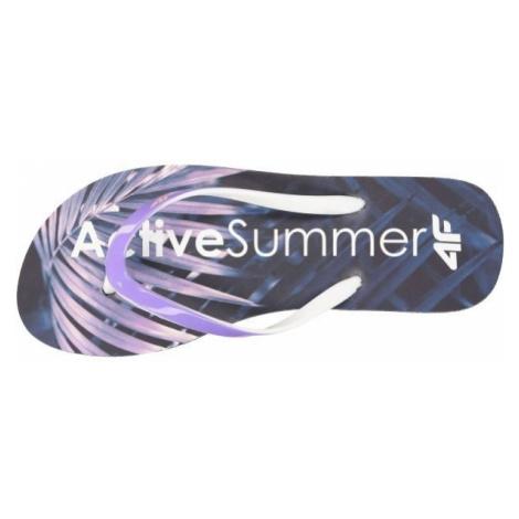 4F KLD004 dark blue - Women's flip-flops