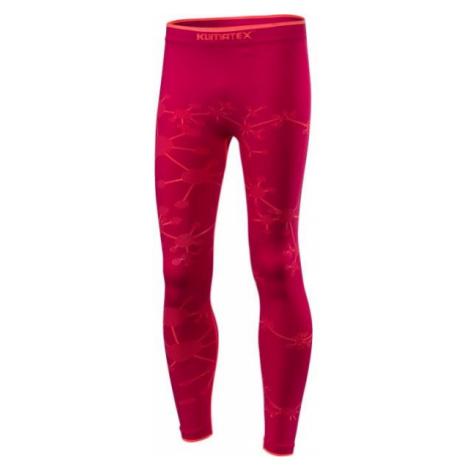 Klimatex BRINI red - Girls' functional thermal leggings