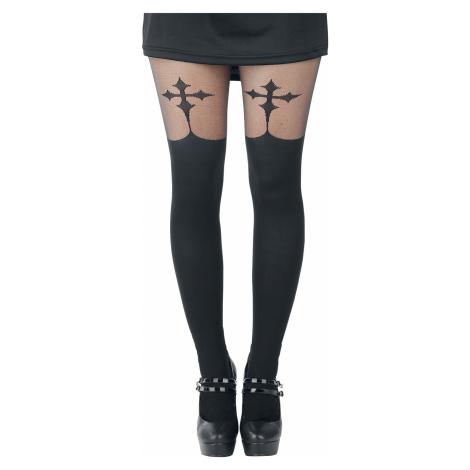 Pamela Mann - Goth Cross Suspender - Tights - black