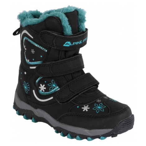 ALPINE PRO KABUNI black - Kids' winter shoes