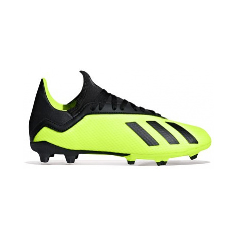 Adidas X 18.3 Firm Ground Football Boots - Yellow - Kids