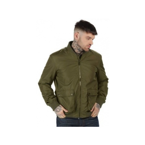 Professional Originals Castlefield Bomber Jacket Green men's Coat in Green