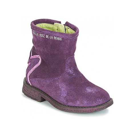 Agatha Ruiz de la Prada 181970 VAGABUNDA girls's Children's Mid Boots in Purple