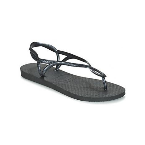 Havaianas LUNA women's Flip flops / Sandals (Shoes) in Black