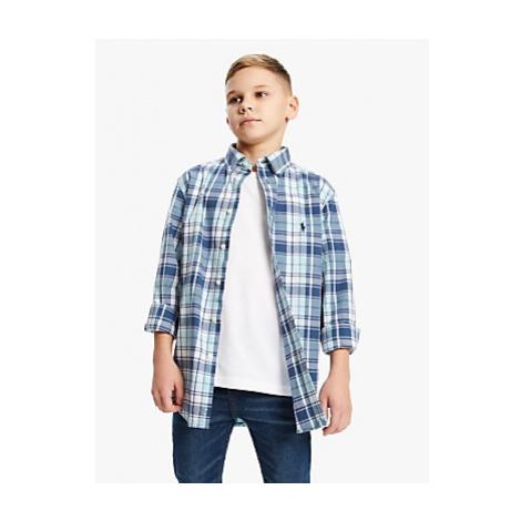 Polo Ralph Lauren Boys' Check Shirt, Blue