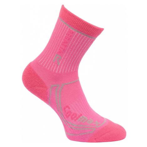 Regatta Kids 2 Season Trek Trail Socks - Raspberry Rose / Jem - 3 Junior - 5.5 Junior