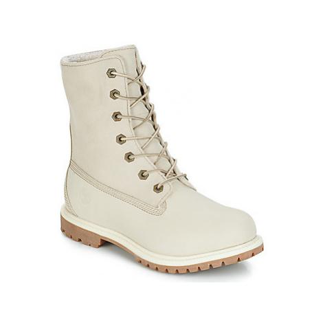 Timberland Authentics Teddy Fleece W women's Mid Boots in White