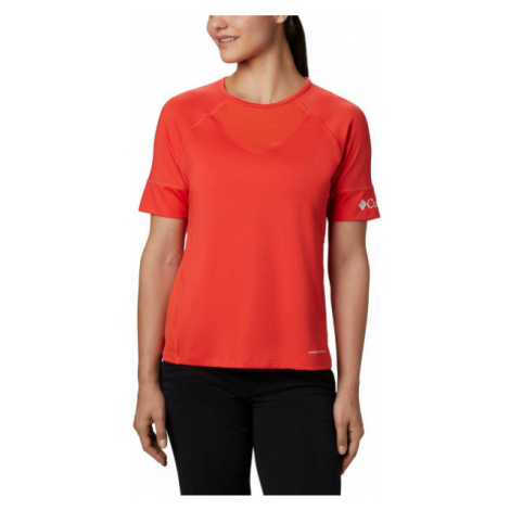 Columbia WINDGATES SS TEE red - Women's sports T-shirt