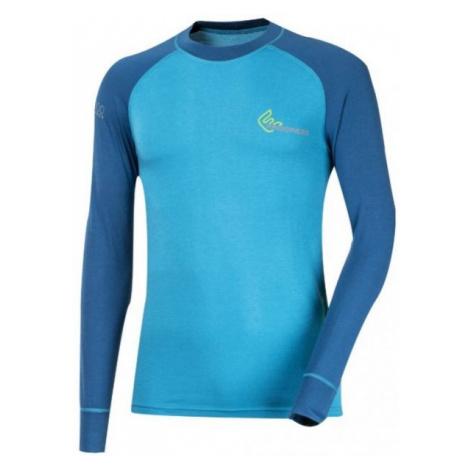 Progress SS BAMBOO LS blue - Men's functional T-shirt