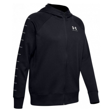 Under Armour RIVAL FLEECE SPORTSTYLE LC SLEEVE GRAPHI black - Women's hoodie