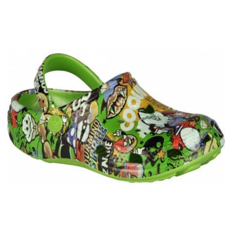 Coqui PRINTED green - Children's sandals