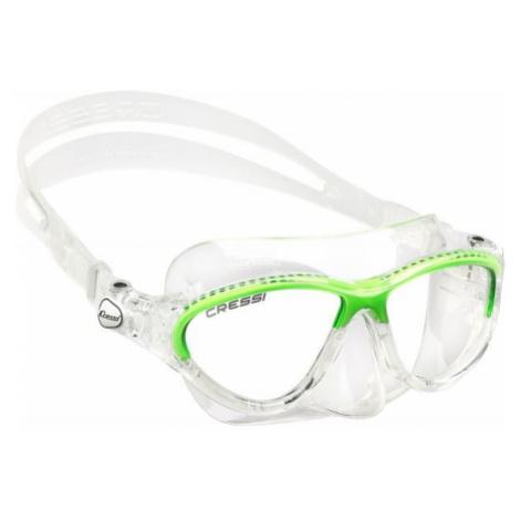 Cressi MOON JR MASK green - Children's diving goggles