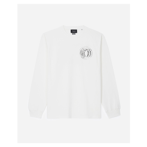 The Kooples - Ecru T-shirt in cotton with long sleeves - MEN