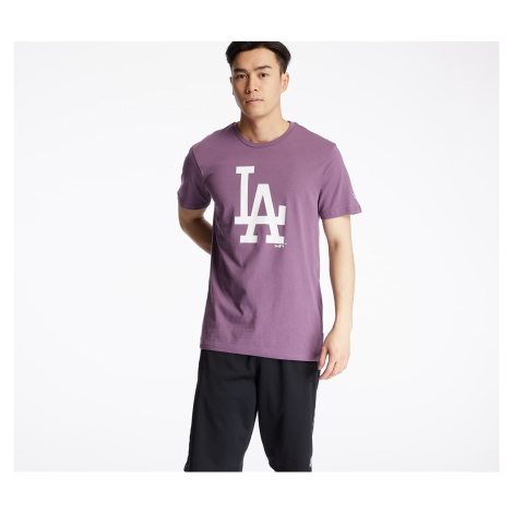 New Era MLB Seasonal Team Logo Los Angeles Dodgers Tee Purple