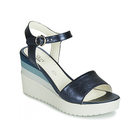 Stonefly ELY 7 LAMINATED LTH women's Sandals in Blue