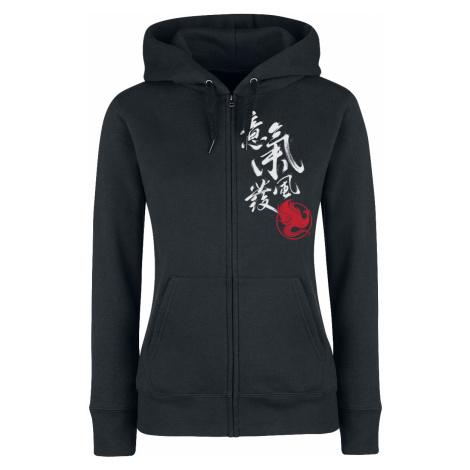Mulan - Strong Chi - Girls hooded zip - black