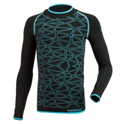 Klimatex ANTEL black - Boys' functional seamless thermal T-shirt