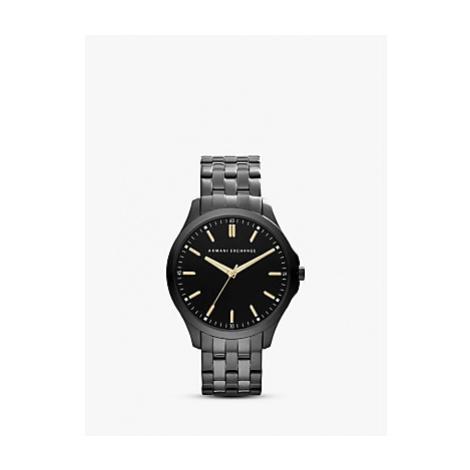 Armani Exchange AX2144 Men's Stainless Streel Bracelet Strap Watch, Gunmetal/Black