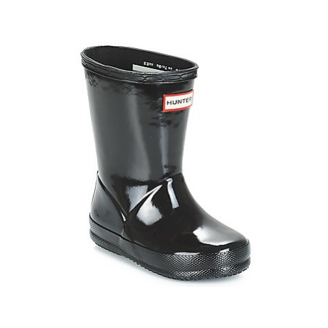 Hunter KIDS FIRST CLASSIC GLOSS girls's Children's Wellington Boots in Black