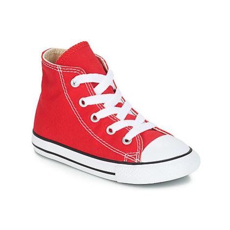 Converse ALL STAR HI girls's Children's Shoes (High-top Trainers) in Red