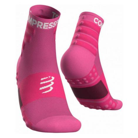 Compressport TRAINING SOCKS 2-PACK pink - Sports socks