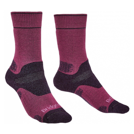 Bridgedale Womens Hike Midweight Merino Endurance Boot Socks-Berry-7 - 8.5
