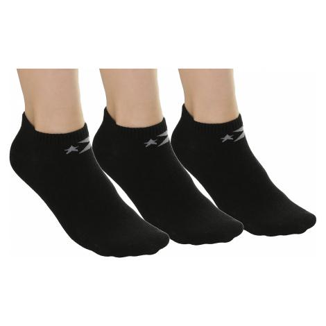 socks Converse Basic Low Cut 3 Pack - E220B/Black/Black/Black