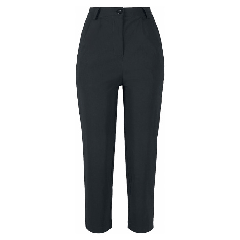Urban Classics - Ladies High Waist Cropped Pants - Girls trousers - black