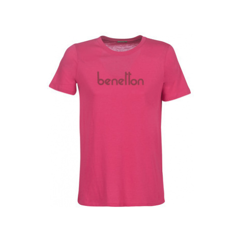 Benetton PALIFOU women's T shirt in Pink United Colors of Benetton