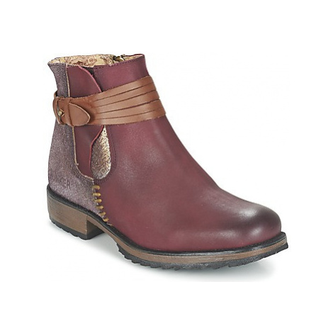Bunker TAYLOR women's Mid Boots in Red
