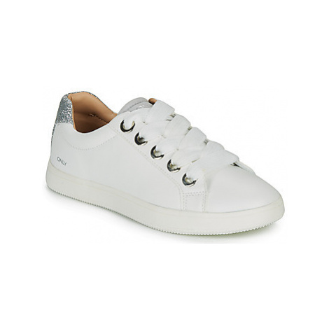 Only SHILO LACE women's Shoes (Trainers) in White