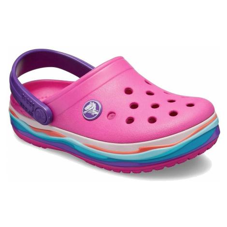 shoes Crocs Crocband Wavy Band Clog - Neon Magenta - unisex junior