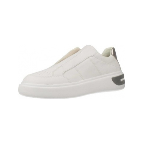 Geox D92BYD women's Slip-ons (Shoes) in White