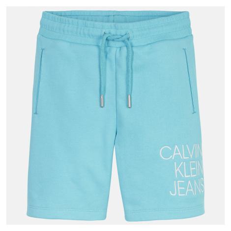 Calvin Klein Jeans Girls' Hybrid Logo Jogger Shorts - Bright Sky