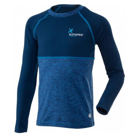 Klimatex WILLY blue - Children's functional long sleeve T-shirt