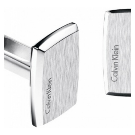 Mens Calvin Klein Stainless Steel Straight Cufflinks KJ0QMC080100