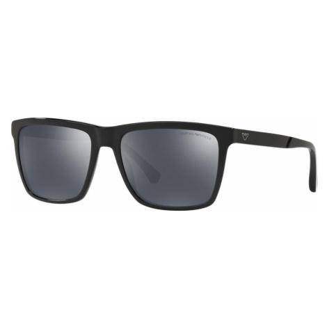 Emporio Armani Man EA4117 - Frame color: Black, Lens color: Grey-Black, Size 57-18/145